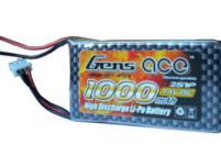 AE Gens Ace Li-Po battery 7.4V 1000 mAh 2S1P 25C Soft Case