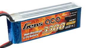 AE Gens Ace Li-Po battery 11.1V 3300 mAh 3S1P 25C Soft Case