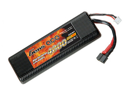 AE Gens Ace Li-Po battery 7.4V 4000 mAh 2S1P 30C Hard Case