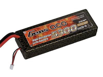 AE Gens Ace Li-Po battery 7.4V 5300 mAh 2S1P 30C Hard Case