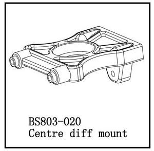 BSD Racing Стойка центрального дифференциала