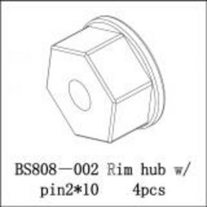 BSD Racing Фиксатор колеса с штифтом 2x10 мм 4 шт BS808T