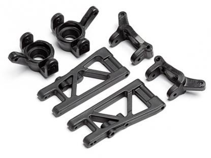 HPI Racing Передние рычаги и поворотные кулаки (2 комплекта) для автомоделей Mini Recon