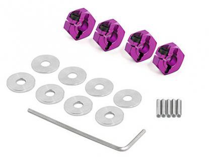 HPI Racing Комплект алюминевых фиксаторов колес с шайбами и штифтами, 4 шт