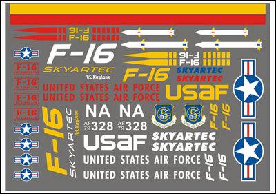 Skyartec Наклейки F16