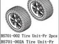 BSD Racing Комплект колес передние BS701G 2 шт (хром)