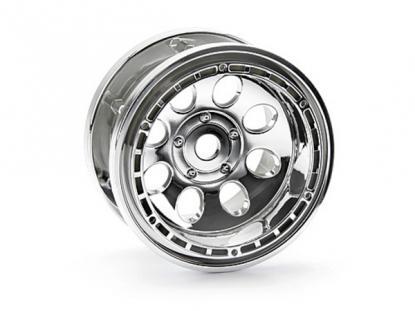 HPI Racing Комплект дисков 1:10, для шин Rock Grabber, 55x36мм, хром,стальные фиксирующ.кольца, 2 шт