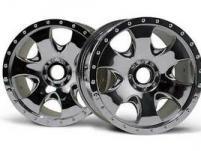 HPI Racing Комплект дисков 1:8, для шин Warlock, 83x56мм, хром, адаптер 17мм, 2 шт