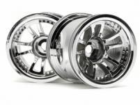 """HPI Racing Комплект дисков 1:10, для шин Split 5, 2,2"""",  хром, адаптер 12мм, 2 шт"""