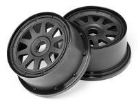 HPI Racing Комлект дисков задних 1:5, для шин TR-10, чёрные, 120ммх65мм, вылет 10мм, 2шт