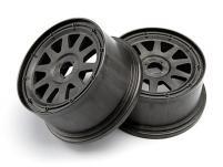 HPI Racing Комплект дисков передних 1:5, для шин TR-10, 120x60мм, темно-серые, вылет 4мм, 2шт