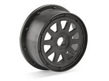 HPI Racing Комплект дисков передних 1:5, для шин TR-10, 120x60мм, темно-серые, вылет 4мм, 2шт-фото 1