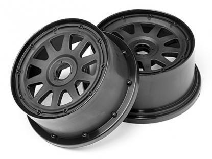 HPI Racing Комплект дисков 1:5, для шин TR-10, 120x60мм, чёрные, вылет 4мм, 2шт