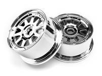 HPI Racing Комплект дисков 1:5, для шин TR-10, 120x65мм, хром, вынос 10мм, 2шт
