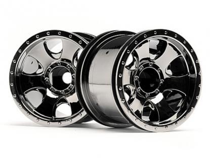 """HPI Racing Комплект дисков 1:10, для шин Warlock, 2.2"""", чёрный хром, 2шт"""