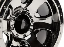 """HPI Racing Комплект дисков 1:10, для шин Warlock, 2.2"""", чёрный хром, 2шт-фото 2"""