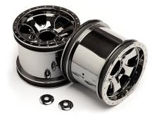 """HPI Racing Комплект дисков 1:10, для шин Warlock, 2.2"""", чёрный хром, 2шт-фото 3"""