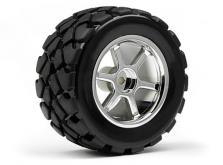 HPI Racing Комплект колес в сборе 1:18  VT TIRE, 35мм, хром, 4шт-фото 1