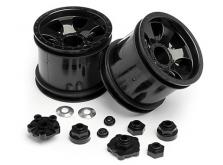 """HPI Racing Комплект дисков 1:10, для шин Warlock, 2.2"""", черный, 2 шт-фото 2"""