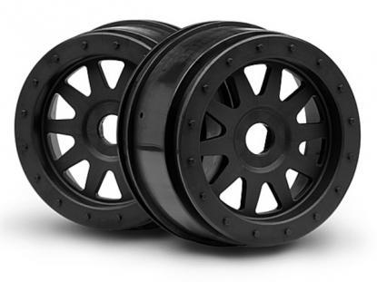 """HPI Racing Комплект дисков 1:5, для шин SC TR-10 GLUE-LOCK 4,7"""", черные, 2шт"""