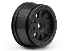 """HPI Racing Комплект дисков 1:5, для шин SC TR-10 GLUE-LOCK 4,7"""", черные, 2шт-фото 1"""
