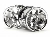 """HPI Racing Комплект дисков 1:10, для шин MT MESH, хром, 2,2"""",адаптер 12мм, 2шт"""
