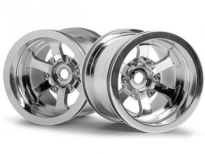 """HPI Racing Комплект дисков 1:10, для шин Scorch, 2,2"""", блест. хром, 2шт"""