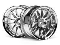HPI Racing Комплект дисков 1:10, для шин Work XSA 02C, хром, шир.26мм, вылет 3мм, 2 шт.