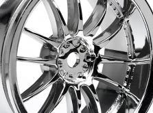 HPI Racing Комплект дисков 1:10, для шин Work XSA 02C, хром, шир.26мм, вылет 3мм, 2 шт.-фото 1