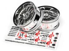 HPI Racing Комплект дисков 1:10, для шин Work XSA 02C, хром, шир.26мм, вылет 3мм, 2 шт.-фото 2