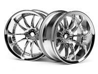 HPI Racing Комплект дисков 1:10, для шин Work XSA 02C, хром, шир.26мм, вылет 9мм, 2 шт.