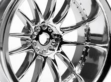 HPI Racing Комплект дисков 1:10, для шин Work XSA 02C, хром, шир.26мм, вылет 9мм, 2 шт.-фото 1