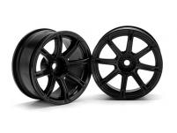 HPI Racing Комплект дисков 1:10, для шин WORK EMOTION XC8, хром, шир.26мм, вылет 6мм, шоссе 2 шт.