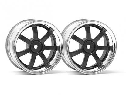 HPI Racing Комплект дисков 1:10, для шин 57S-PRO,хром/чёрный, шир.26мм, вылет3мм,2шт.