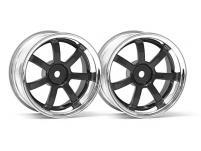 HPI Racing Комплект дисков 1:10, для шин 57S-PRO,хром/чёрный, шир.26мм, вылет 9мм, 2шт.