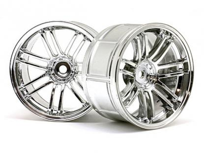 HPI Racing Комплект дисков 1:10, для шин LP32 , хром, шир.32мм,вылет 6мм,шоссе,адаптер12мм, 2шт.