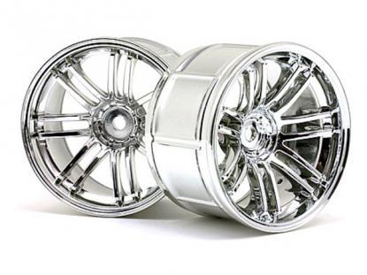 HPI Racing Комплект дисков 1:10, для шин LP35, хром, шир.35мм, вылет 9мм, 2шт.
