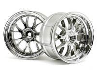 HPI Racing Комплект дисков 1:10, для шин LP32, хром,шир.32мм, вылет6мм,шоссе,адаптер12мм,2шт.