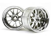 HPI Racing Комплект дисков 1:10, для шин LP35, хром, шир.35мм,вылет9мм,шоссе, адаптер12мм,2 шт.