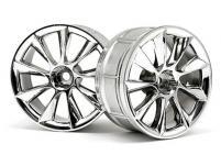HPI Racing Комплект дисков 1:10, для шин LP29, шир.29мм, хром, вылет 3мм, шоссе, адаптер 12мм, 2шт