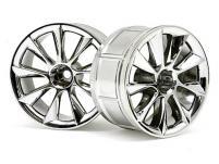 HPI Racing Комплект дисков 1:10, для шин LP32, хром, шир.32мм, вылет6мм,шоссе,адаптер 12мм,2шт.