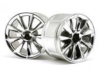 HPI Racing Комплект дисков 1:10, для шин LP35, хром,шир.35мм,вылет9мм,шоссе,адаптер 12мм, 2 шт.