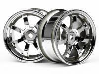 HPI Racing Комплект дисков 1:10, для шин 57S-PRO, хром, шир.26мм, 52мм, шоссе, адаптер 12мм, 2шт