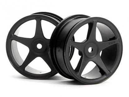 HPI Racing Комплект дисков 1:10, для шин Super Star,чёрн.,шир.26мм, вылет1мм,шоссе,адаптер 12мм, 2шт