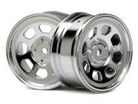 HPI Racing Комплект дисков 1:10, для шин Stock Car,хром,шир.26мм, вылет1мм, шоссе, адаптер 12мм, 2шт