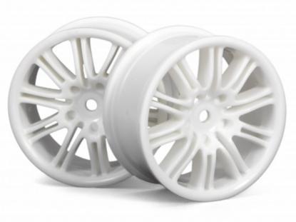 HPI Racing Комплект дисков 1:10, для шин 10 Spoke, белый, шир. 26мм,шоссе,адаптер 12мм, 2шт