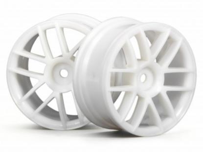 HPI Racing Комплект дисков 1:10, для шин Split 6, белый, шир.26мм, 2шт