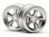 HPI Racing Комплект дисков 1:10, для шин VINTAGE 5 SPOKE,мат.хром, шир.26мм,вылет 0мм,шоссе, 2шт