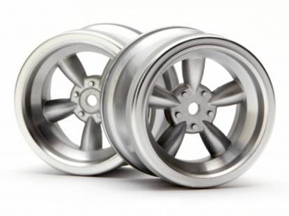 HPI Racing Комплект дисков 1:10, для шин VINTAGE 5 SPOKE, мат.хром, шир.31мм,вылет 6мм, шоссе, 2шт