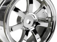 HPI Racing Комплект дисков 1:10, для шин VINTAGE 5 SPOKE WHEEL,блест.хром,шир.31мм,выл.6мм,шоссе 2шт-фото 1
